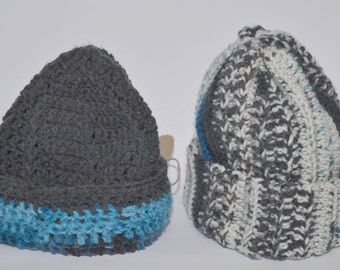 crocheted winter hat / Slouchy Beanie Hat Chunky Knitted Winter