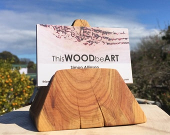 Business Card Holder / bespoke/ Recycled wood / timber / Handmade / gifts by ThisWOODbeART