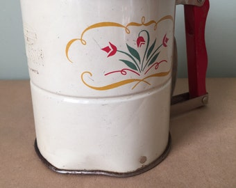 Androck Hand-i-Sift Sifter 1940s. Vintage Kitchen Sifter. Flour Sifter