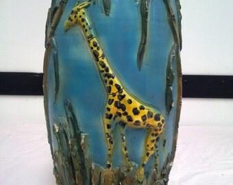 Large ceramic vase Italy 1950 Sacas-SAN MARINO-manufacture-