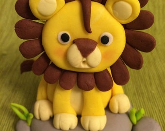 CUTE BABY LION Cake Topper