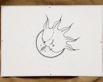 PRINT Sun & Moon