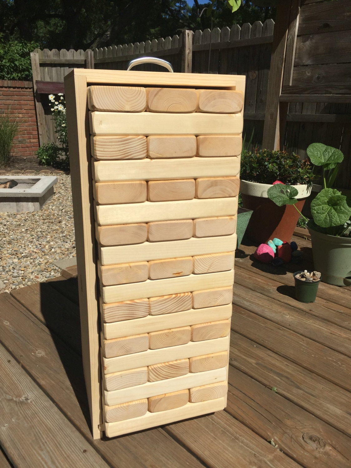 Full-Size GIANT JENGA with BOX Made From 2 x by ...