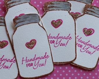 8 Handmade for You Tags, make perfect hostess gifts or attach to your homemade goodies...