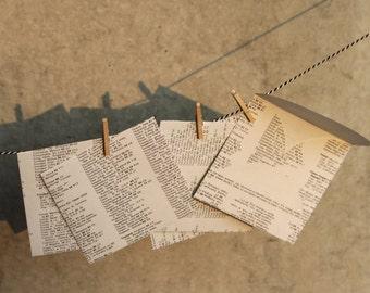 Five nice little envelopes - handmade