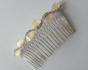 Bridal Rhinestone and Jewel Hair Comb. Wedding Hair Accessory.