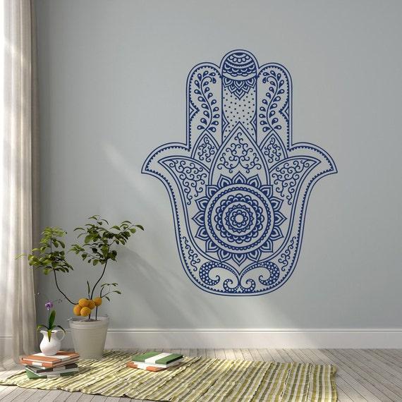 Hamsa mandala pared calcoman a f tima mano de la pared for Calcomanias para dormitorios