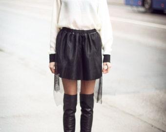 Black Hurdle Skirt