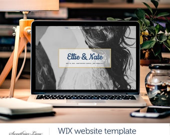 One Page Wedding Invite Website | WIX website template