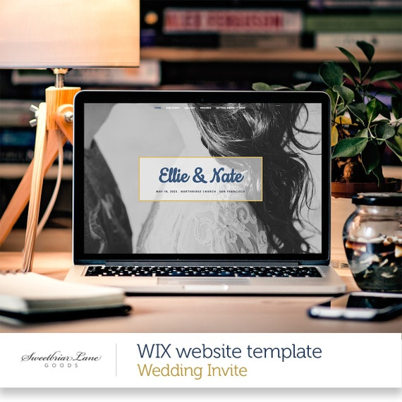 One Page Wedding Invite Website WIX Website Template