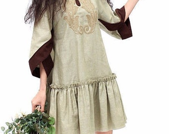 Linen cotton dress.