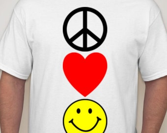 Peace, love, happiness (men)