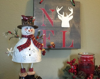 Christmas decor. Noel sign. Hunting Noel sign. Holiday decor. Gift for hunter. Cabin decor.  Rustic wood sign