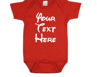 Custom Baby Onesie   Cute Baby Onesie   Custom Text - Your Text Here Baby Outfit   Baby Shower Gift  Birthday Take Home Outfit   Newborn
