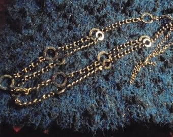 Necklace 1990 / Vintage/Massif //argente/ half Double row / 80 cm / very original