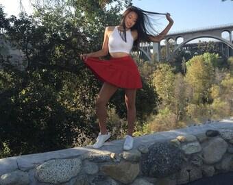 1980's High Waisted Red Tennis Skirt