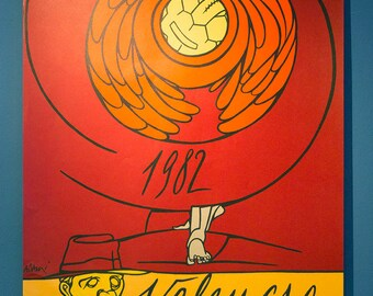Poster Spain 1982 World Cup Football - Valencia by Adami