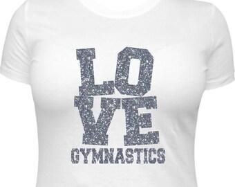 Gymnastics Shirt, Gymnastics TShirt, Womens Gymnastics, Gymnastics T-Shirt, Gymnast Gifts, Gymnastics Gifts, Love Gymnastics, Love Squared