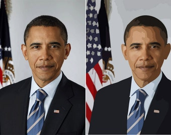 Example portrait - Barack Obama