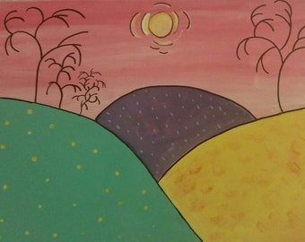 Sunshine and Daydreams,Original Acrylic Painting ****Reduced****