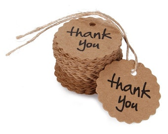 Thank you Kraft Paper Tags