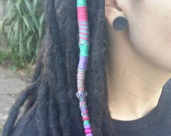 Custom Handmade To Order - Crocheted Dreadlock Extensions, Wraps available - Human or Synthetic Hair - Any size, quantity, colour