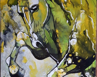 horse, horse on the run... on the loose....... original paint, original painted JF