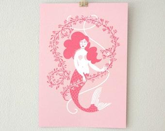 Mermaid Seaweed // print pink