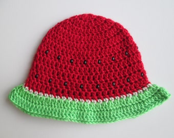 Crochet Watermelon Hat//baby hat//photography prop//winter hat//Christmas gift//baby shower gift//