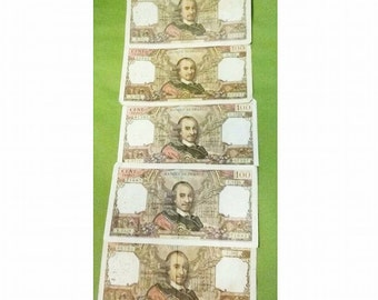 5 x 100 FRENCH FRANCS