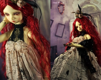 Surniculus lugubris,OOAK,Dress set for SD girl(1/3 BJD)