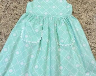 Mint Green Sundress Cross Strap Size 3