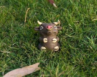 Handmade Bull Artdoll/Arttoy