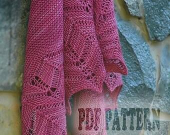 PDF Knitting Pattern Shawl Waves