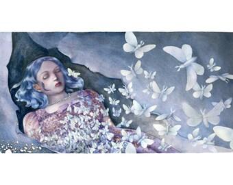Moth - messalyn - A4 print