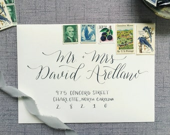 Wedding Calligraphy Envelope - Kimberly Style; Modern Calligraphy