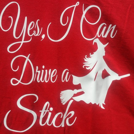 Yes I Can Drive A Stick Long Sleeve V Neck By