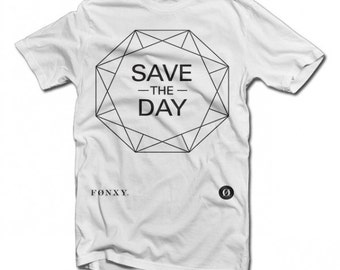 Save the Day Minimalistic Design T-shirt by Fonxy