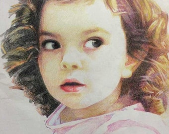 Customized Hand-Drawn Portrait Painting from Photo