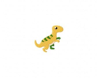 Mini Baby T-rex dinosaur machine embroidery design, dinosaur embroidery design, mini dino design