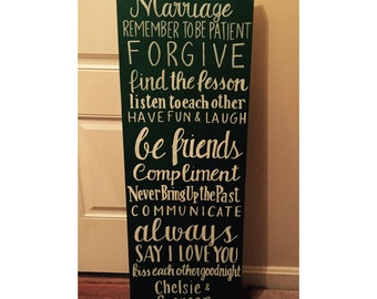 Rules For a Happy Marriage canvas