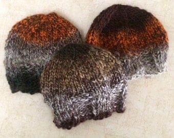 Fall Multi-color Knit Baby Hat