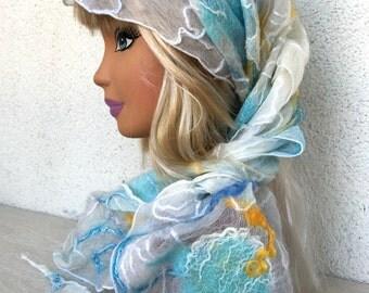 Nuno Felting Shawl Wraps Shawls Scarves & Wraps One-of-a-kind Caribbean Headscarf Neckerchief Silk 20%OFF with coupon code HOTAUGUST2016