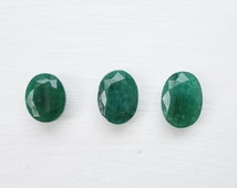Natural Rough Oval Cut Faceted Emerald - Gemstone Parcel 25ct Raw Stone Loose