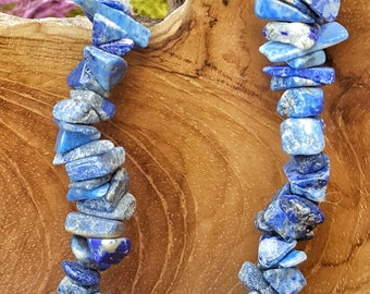 Lapis Lazuli Crystal Stretchy Bracelet with Natural Stones   - 043
