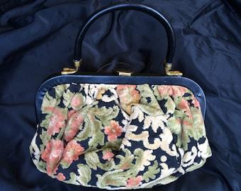 SALE! 1950's Carpet Bag, Purse, Excellent Condition, Large Vintage Bag