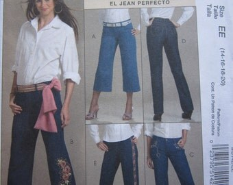 McCalls 5142 Jeans Sewing Pattern 14-20