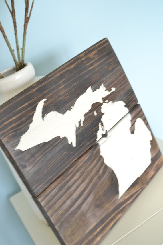 traverse city sign rustic michigan sign by On rustic home decor traverse city