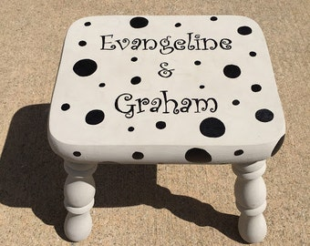 Personalized Kids Stool, Bathroom Stool, Time-Out Stool, Children's Stool