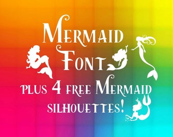 mermaid Font svg, mermaid Alphabet, mermaid cricut letters Cut Files, Cut diy Files for Silhouette machines instant download, kids party
